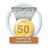 50 Completed Challenges
